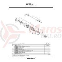 Cheie rapida Shimano FH-M970 168mm(6-5/8