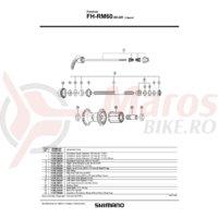 Cheie rapida Shimano FH-RM60-8S-QR 166mm (6-17/32