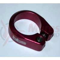 Colier pentru tija de sa 31.8 mm BTS rosu