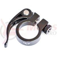 Colier pentru tija de sa BikeForce 28.6 mm negru