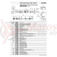 Colivie cu bile Shimano SG-3C40 l 3/16