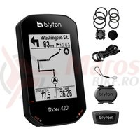 Computer Bryton Rider 420T GPS set (CAD+HRM)