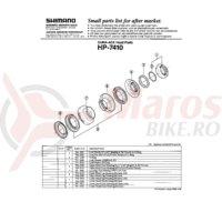 Con cuveta inferioara Shimano HP-7410 27.0mm