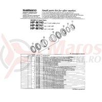 Con cuveta inferioara Shimano HP-M740 27.0mm