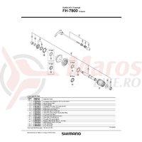 Con Shimano FH-7800 stanga cu garnitura pentru praf & capat etans