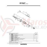 Con Shimano FH-7850 stanga M14 & com M14 & garnitura praf