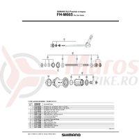 Con Shimano FH-M665 contrapiulita stanga
