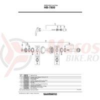 Con Shimano HB-7800 stanga cu garnitura pentru praf & capat etans