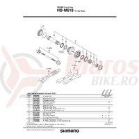 Con Shimano HB-M618 dreapta