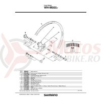 Con Shimano WH-M565-F Stanga