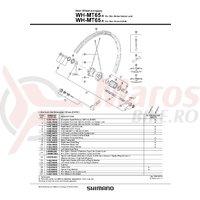 Con Shimano WH-MT65-R contrapiulita stanga pentru 6-Bolt