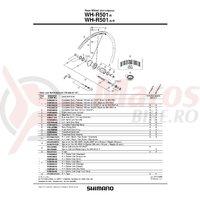 Con Shimano WH-R501-R contrapiulita stanga