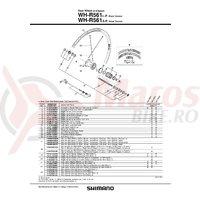 Con Shimano WH-R561-R unitate contrapiulita stanga