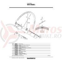 Con Shimano WH-R600-F M9x20mm + Garnitura pentru praf/capat etans
