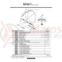 Con Shimano WH-RS11-R contrapiulita dreapta