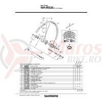 Con Shimano WH-RS30-R dreapta si contrapiulita