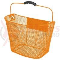 Cos fata plasa metalica Ventura 34,5x26,5x26/22,5cm cu suport prindere ghidon detasabil portocaliu