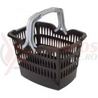 Cos/troler fata Roto de plastic cu maner detasabil 350x270mm 20litri pentru ghidon 22-25mm