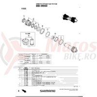 Cuveta Shimano BB-M950 stanga (B.C.1.37