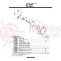 Cuveta Shimano FC-6600 dreapta B.C.13.7