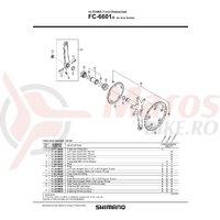 Cuveta Shimano FC-6601G stanga (B.C.1.37