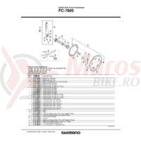 Cuveta Shimano FC-7800 dreapta B.C.13.7 x 24T filet englezesc