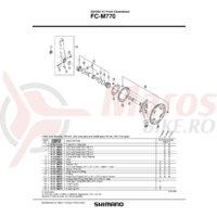 Cuveta Shimano FC-M770 dreapta (B.C.1.37