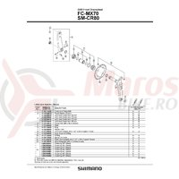 Butuc pedalier Shimano DXR FC-MX70