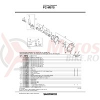 Cuveta Shimano pentru FC-M970 dreapta (b.c 1.37