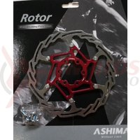 Disc Ashima Aro-18, 160mm, rosu