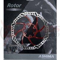 Disc frana Ashima ARO-15 180mm rosu