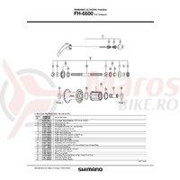 Distantier pentru ax Shimano FH-6600 dreapta & capat etans