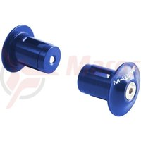 Dopuri ghidon M-Wave alu albastru anodizat 17,5-19,5mm