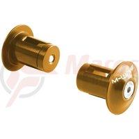 Dopuri ghidon M-Wave alu auriu/portocaliu anodizat