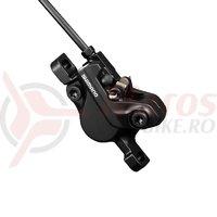 Etrier frana disc hidraulica Shimano Deore BR-MT500 placute resin B01S negru
