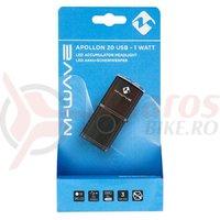 """Far cu acumulator M-Wave """"APOLLON K 20 USB""""Aluminiu"""