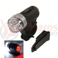 Far/lampa spate PRO led-03 3 functii argintiu/negru prindere QR include baterii