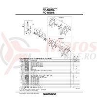 FC-M810 cuveta dreapta butuc pedalier Shimano (B.C.1.37x24T)