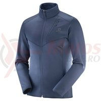 Fleece drumetie Salomon Discovery FZ night sky heater barbati