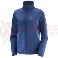 Fleece Salomon Discovery FZ medieval blue heate femei