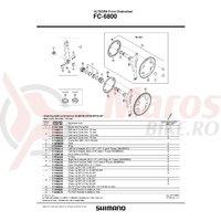 Foaie Shimano FC-6800 39T-MD pentru 53-39T