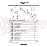 Foaie Shimano FC-9000 34T-MA pentru 50-34T