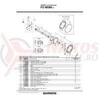 Foaie Shimano FC-M590-10 42T-AE gri pentru chainguard