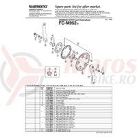 Foaie Shimano FC-M952-5 26T PCD 74 mm