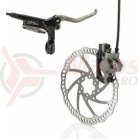 Frana disc XLC ProHR BR-D01 R-wheel black/titan D160mm Cablu1800