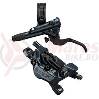 Frana pe discShimano SLX BL-M7100(L) BR-M7120(F) fara adaptor placute metal cu aripioare de racire furtun SM-BH90-SBM 1000mm