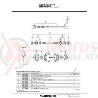 Garnitura pentru montura discului Shimano HB-M965