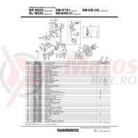 Garnitura pentru niplu aerisire Shimano BR-M555
