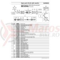 Garnitura pentru praf Shimano SG-3C40 dreapta