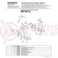 Hooking link fixing bolt Shimano BR-MC16 M6x13.5